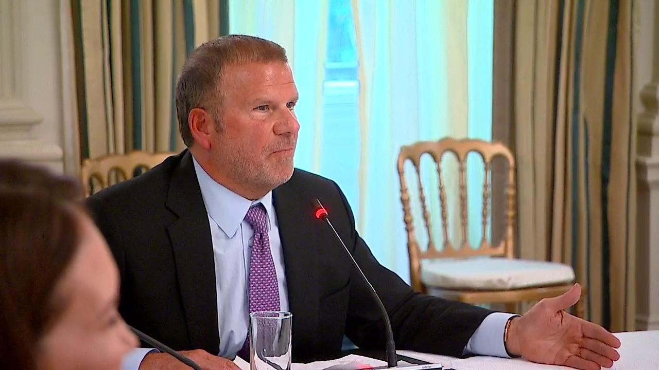 Landry's CEO and Houston Rockets owner Tilman Fertitta says while bringing the Paycheck Protection Program through the Small Business Administration was 'an unbelievable idea,' he explains how he couldn't take advantage of the program because he's a billionaire.