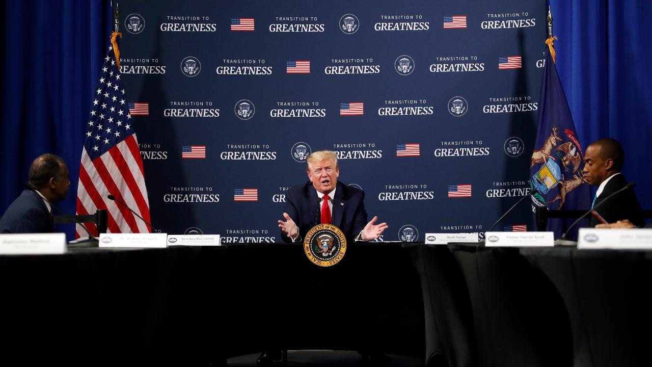 President Trump says the third quarter will be the transition quarter, whereas the fourth quarter and next year will be 'big for the country.'