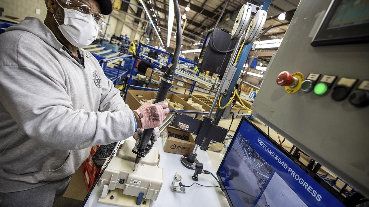 National Association of Manufacturers President and CEO Jay Timmons discusses reopening manufacturing nationwide and following safety guidelines as a step towards economic recovery.