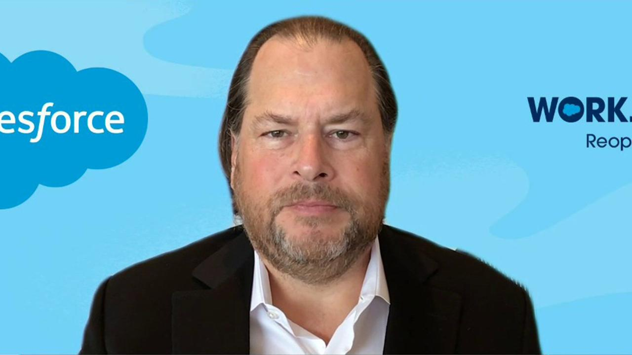 Salesforce CEO Marc Benioff discusses his company's new platform for helping businesses reopen safely amid the coronavirus.