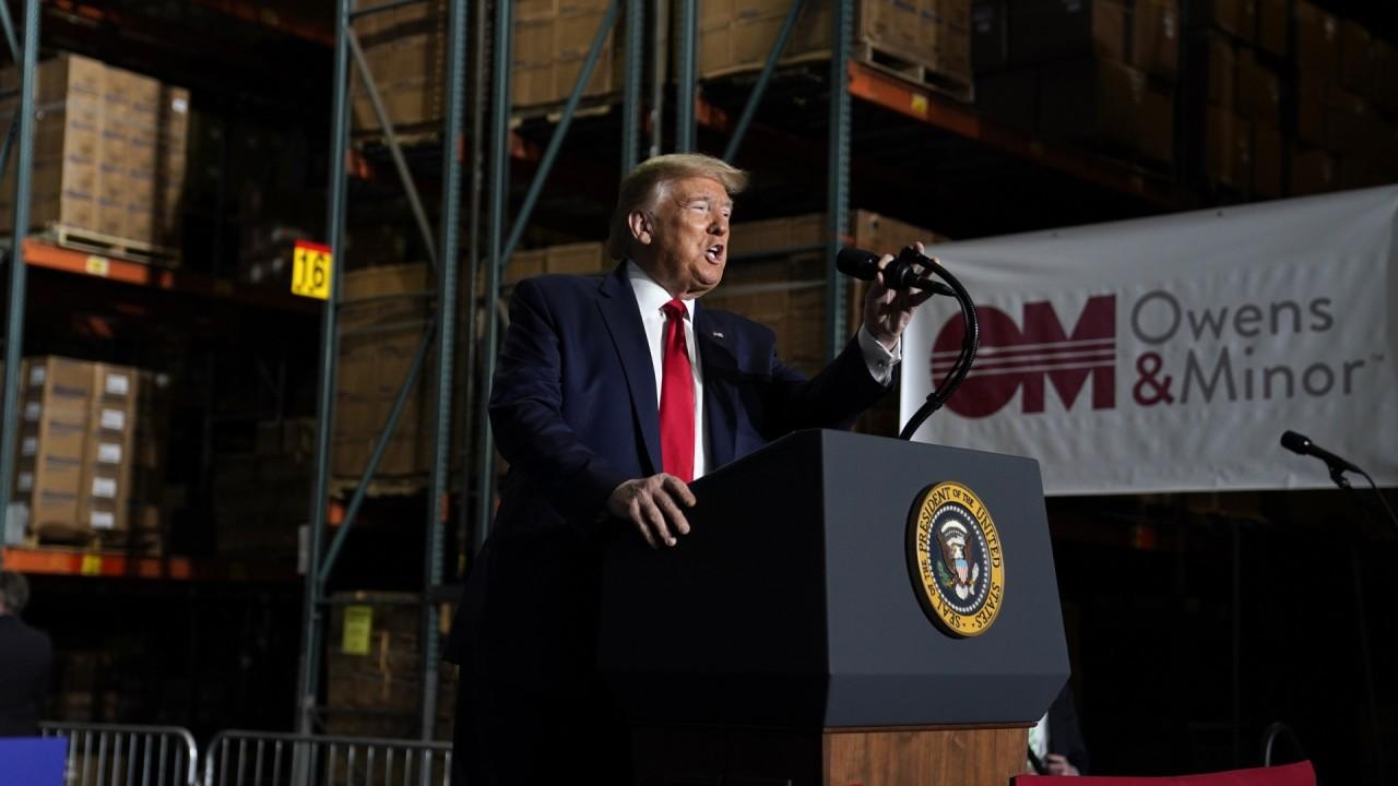 President Trump laid out his administration's plans to stockpile ventilators and personal protective equipment (PPE) to prevent future shortages and explains why he signed an executive order invoking the Defense Production Act to invest in America first.