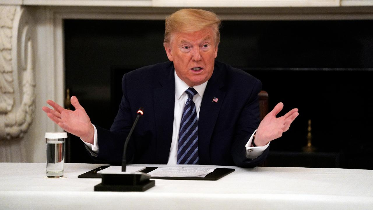 President Trump says while the strong economy was artificially turned off due to coronavirus, he is optimistic the U.S. will recover from it by next year and he's hopeful he can get a payroll tax cut or a capital gains tax cut.