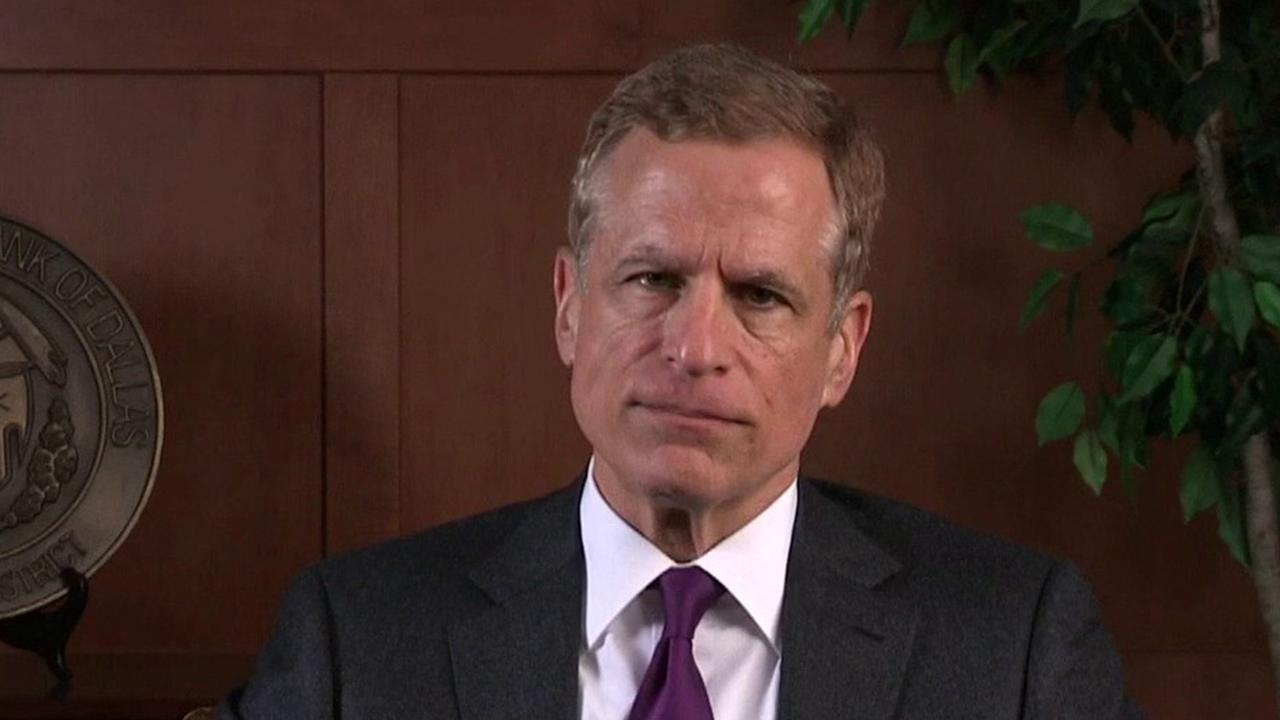 Dallas Federal Reserve President Robert Kaplan argues the U.S. unemployment rate will likely reach 20 percent and end the year around 8 percent. He also argued that the U.S. economy could contract 4 percent for the year due to the coronavirus pandemic.