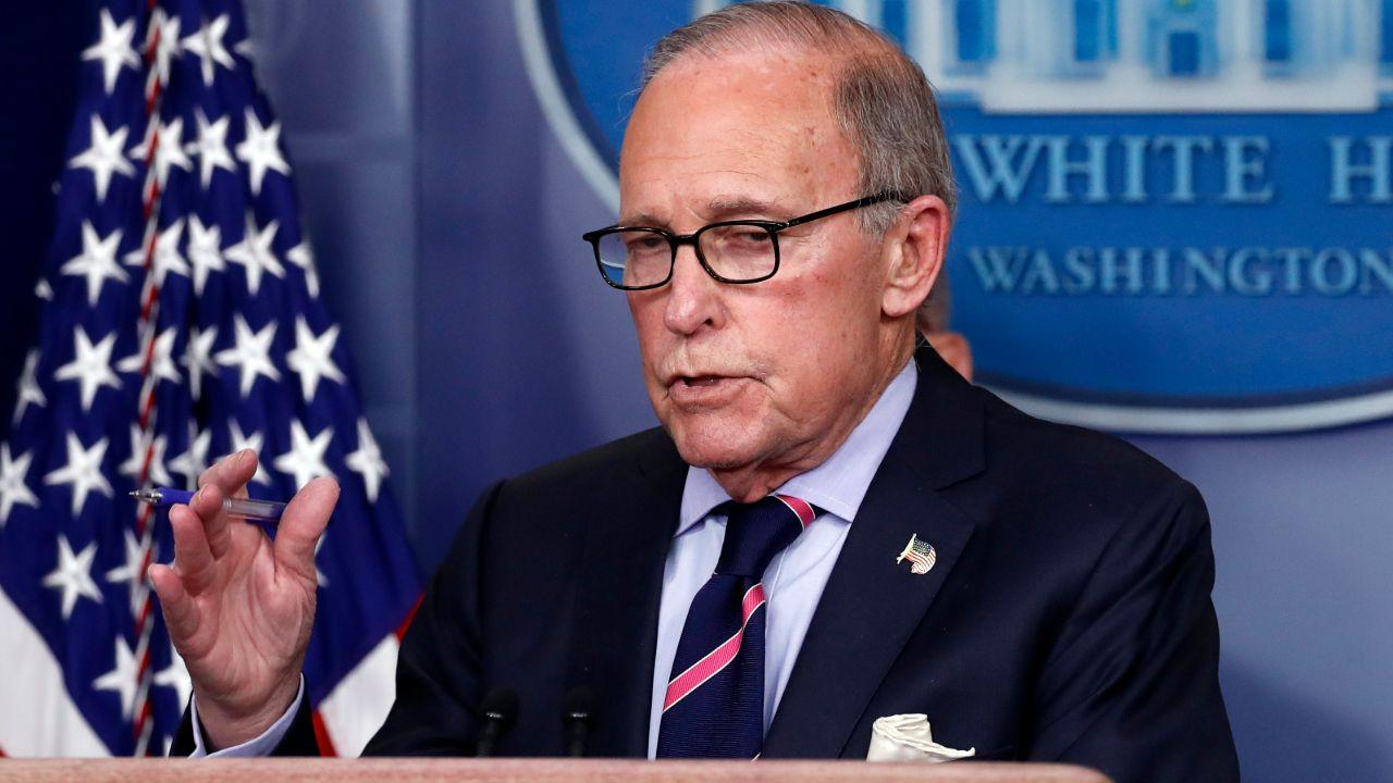 White House economic adviser Larry Kudlow says the U.S. must focus on reopening the economy as coronavirus case numbers are beginning to flatten out throughout the country.