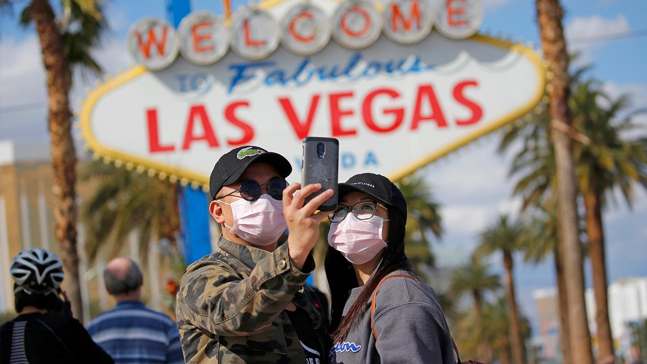 MGM announced plans to reopen their Las Vegas hotels and casinos. FOX Business' Kristina Partsinevelos with more.
