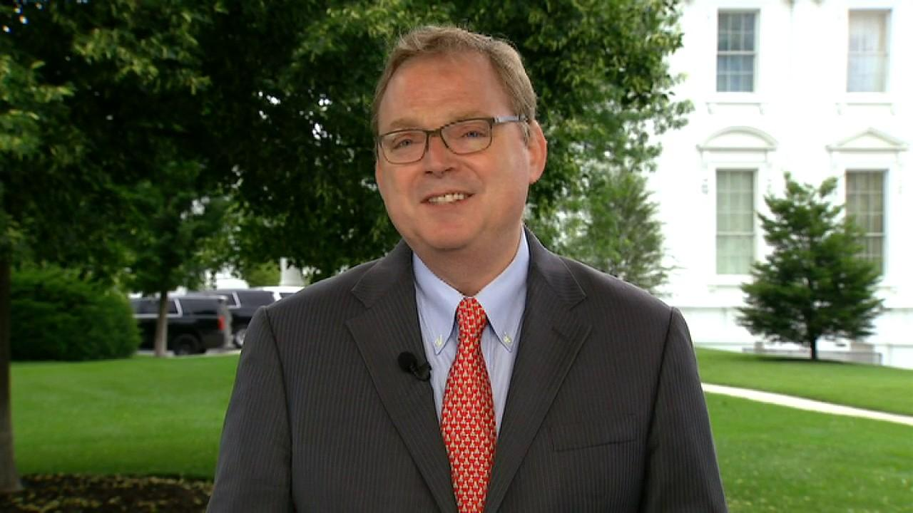 'We're looking for an acceleration over the summer and then a real boom in the second half of the year,' Kevin Hassett, who is a senior adviser to President Trump, says.