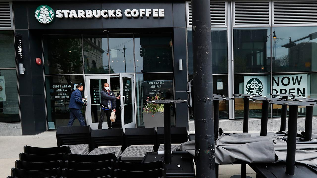 Fox Business Briefs: Starbucks will continue to cut employee hours after it decided to keep most of its dining rooms closed during the coronavirus pandemic; Hollywood task force submits report on how to safely resume production.