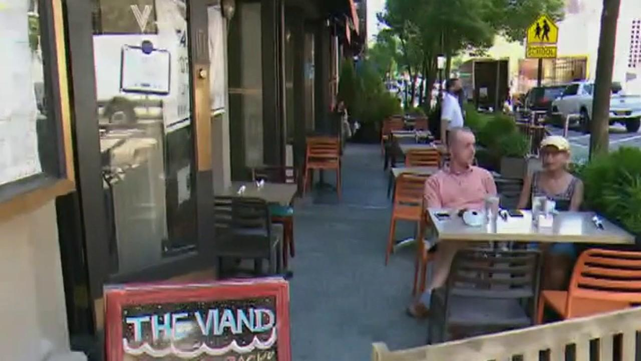 The Viand restaurant owner Erick Kontogiannis discusses his outdoor seating policy and says his biggest concern is customers not returning to his business.
