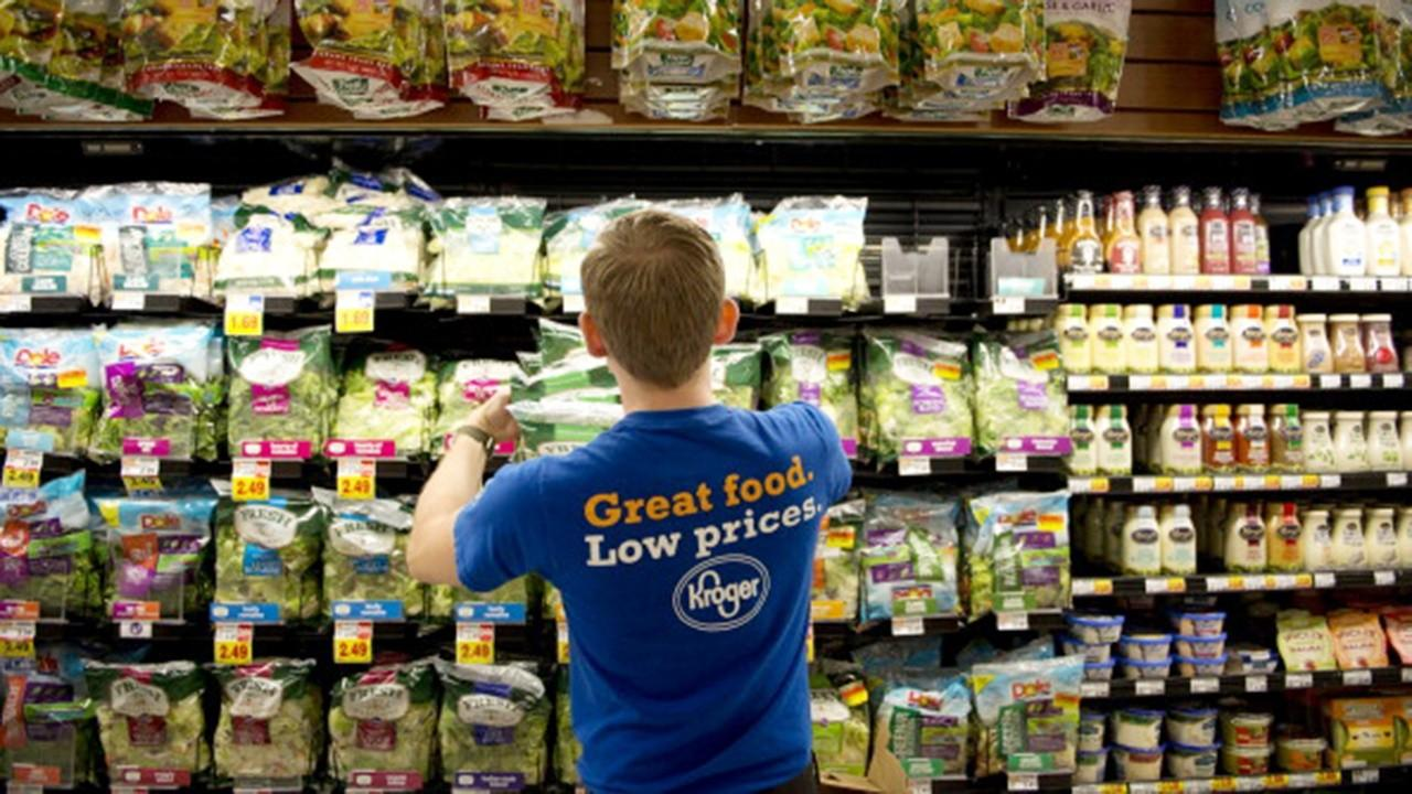 Kroger Chairman and CEO Rodney McMullen discusses the spike in digital sales, adapting to coronavirus standards and raising employee pay.