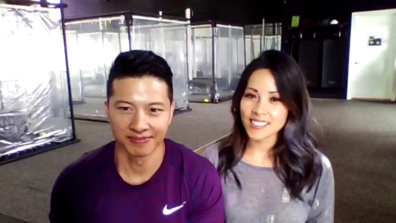 Inspire South Bay Fitness owners Peet and Trinh Sapsin discuss the creation of plastic workout pods for clients to exercise while staying safe.