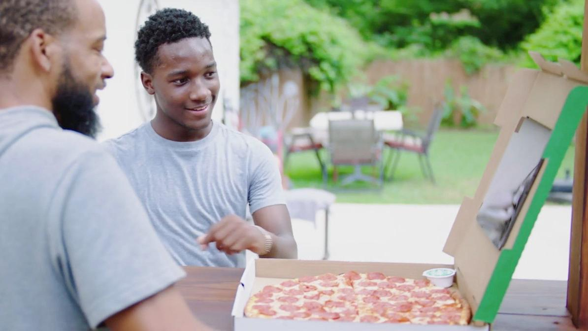 """<a data-cke-saved-href=""""https://www.foxbusiness.com/category/food-drinks"""" target=""""_blank"""" href=""""https://www.foxbusiness.com/category/food-drinks"""">Papa John's launches the new Shaq-a-Roni pizza in collaboration with restaurant owner and board member Shaquille O'Neal.</a>"""