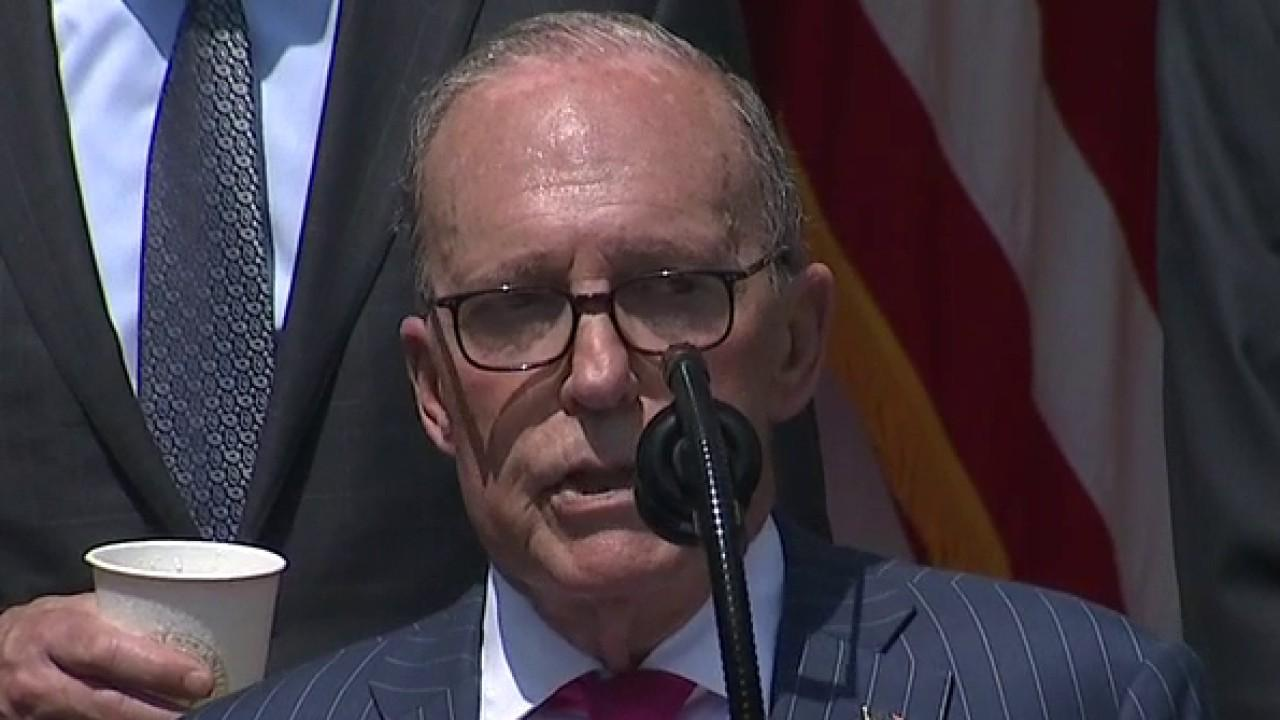 National Economic Council Director Larry Kudlow addresses May jobs report gains and predicts future economic growth.