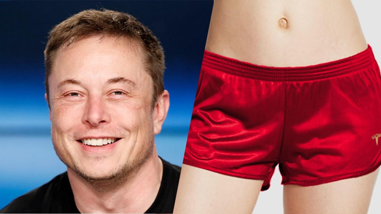 Tesla CEO Elon Musk released limited edition red satin short shorts with a price tag of $69 each; they sold out within minutes.