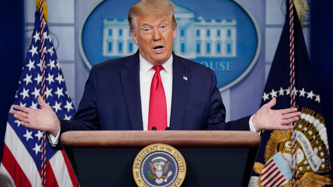 President Trump addresses economic recovery amid coronavirus and sufficient medical equipment supply in the U.S.