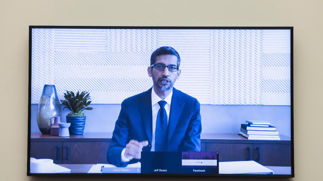 Alphabet CEO Sundar Pichai gives details on how Google produces search results for websites, specifically news sites.