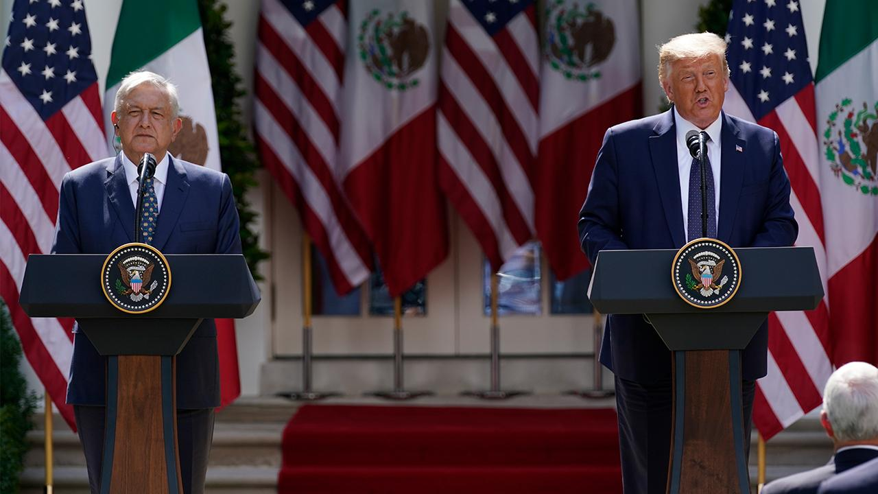 President Trump discusses building a 'powerful economic and security partnership' with Mexico and how the U.S. is handling the coronavirus outbreak.