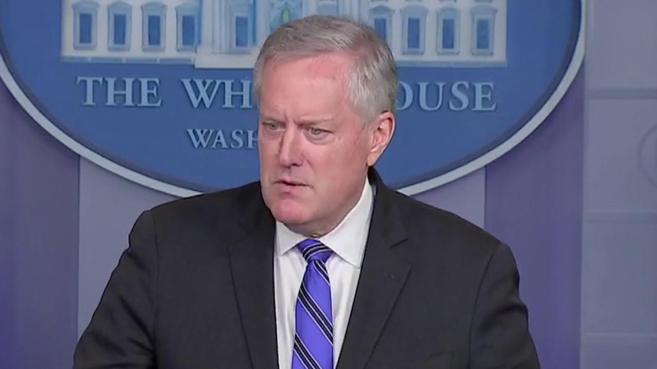 White House Chief of Staff Mark Meadows gives an update on coronavirus stimulus talks.