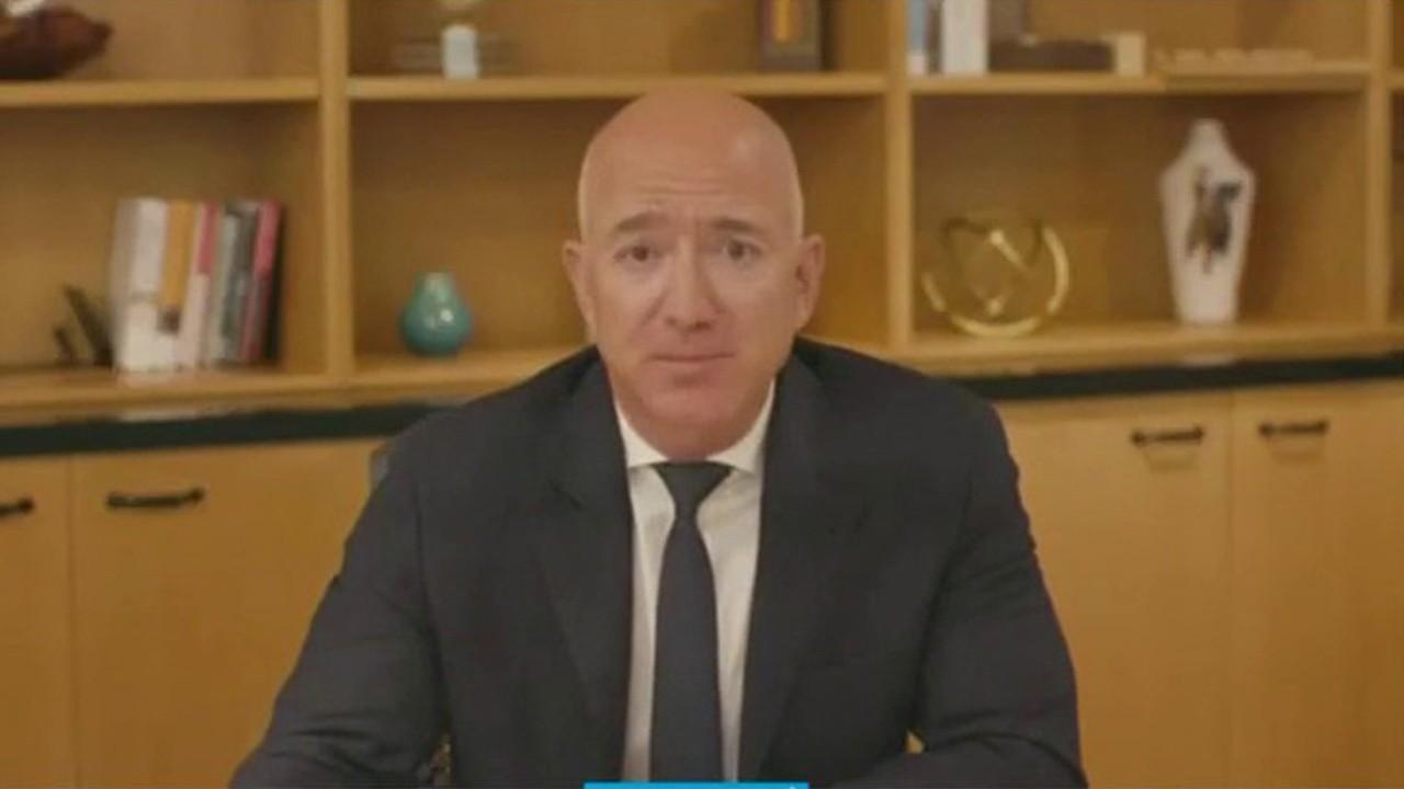 Amazon CEO Jeff Bezos says he doesn't agree with the premise that diaper and other product prices were driven up by Amazon eliminating its main competitor, Diapers.com.