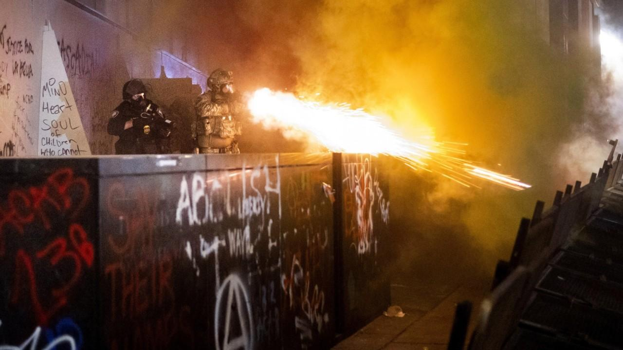 Acting CBP commissioner Mark Morgan says criminals have taken over some American city protests with the goal to riot and injure federal agents, and to say their presence is inciting violence is 'ridiculous.'