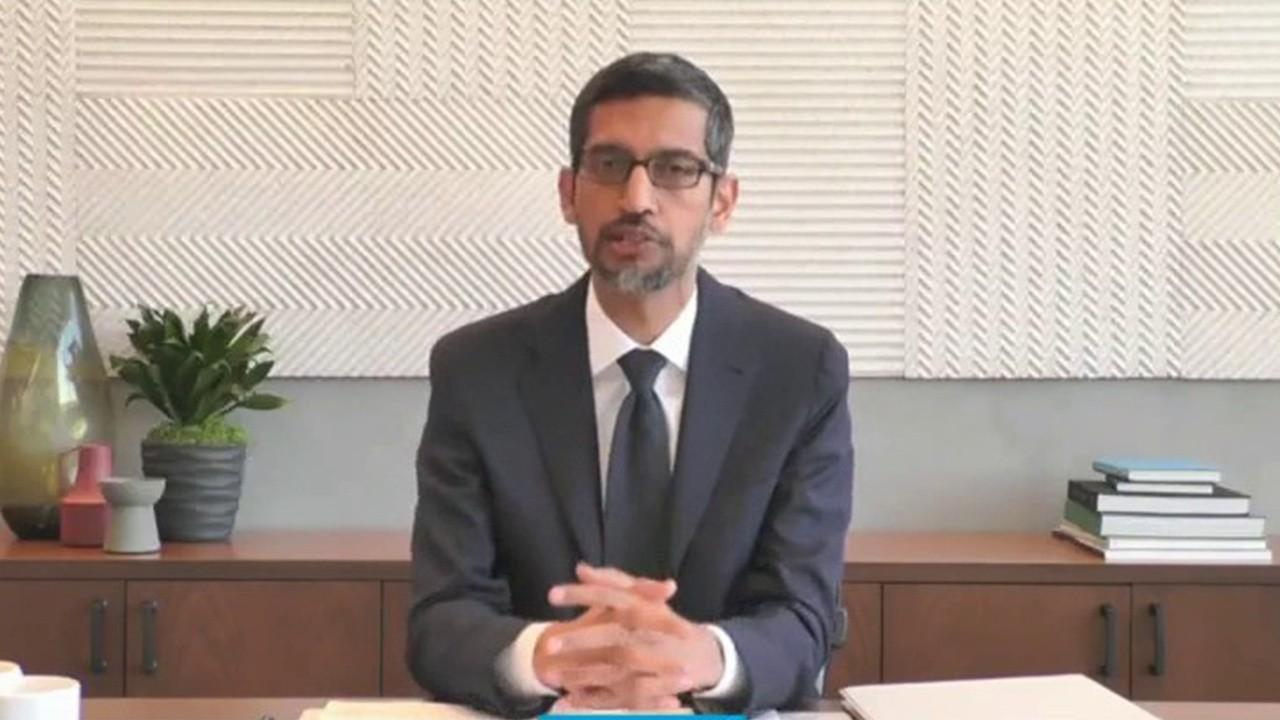 Rep. Greg Steube, R-Fla., brings up the issue of conservative censorship on Google search results and Alphabet CEO Sundar Pichai says there are more conservative voices than ever before on his platforms and his company believes in freedom of expression.