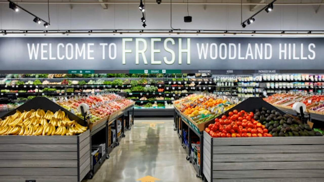 Fox Business Briefs: The first Amazon Fresh grocery store opening to invited shoppers in Woodland Hills, California; Costco bringing back its samples at some locations, however only dry and pre-packaged goods will be available for tasting.