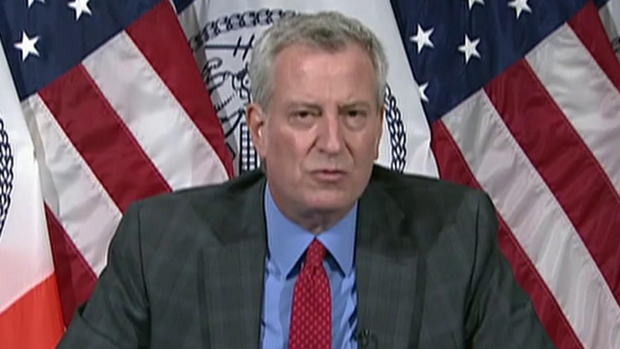 Hundreds of angry New Yorkers demand Democrat Mayor Bill de Blasio step down; reaction from Fox News contributor David Webb.