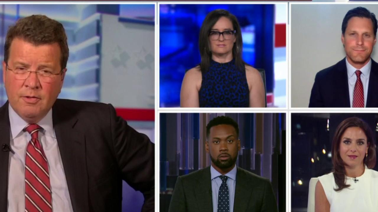 FOX Business' Neil Cavuto, Kennedy and Jackie DeAngelis, Fox News contributor Lawrence Jones and King's College's Brian Brenberg respond to the speeches during the third night of the Republican National Convention.