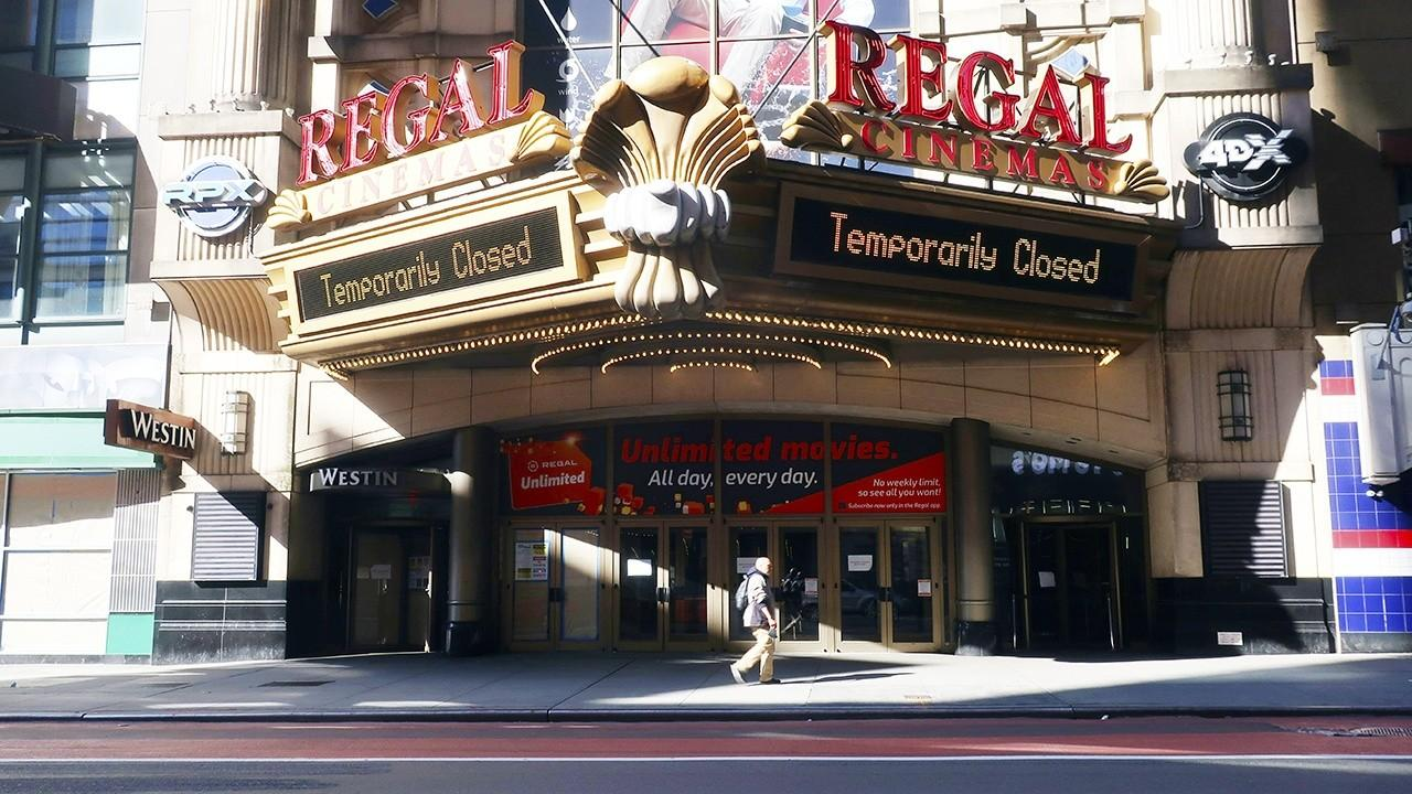 Regal Cinemas is expected to reopen 200 locations across the country. FOX Business' Kristina Partsinevelos with more.