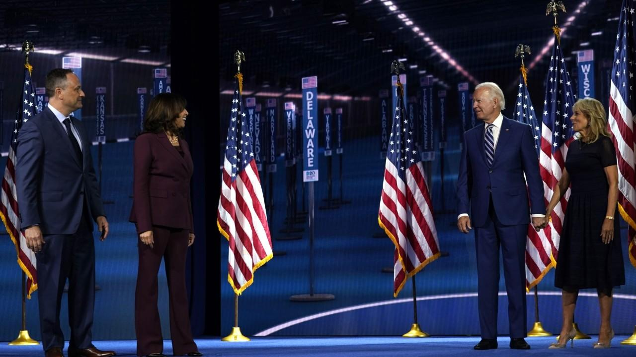 Former Obama economic adviser Robert Wolf talks about his ties for former President Obama and now Democratic vice presidential nominee Sen. Kamala Harris, D-Calif., after she speaks at the 2020 Democratic National Convention.