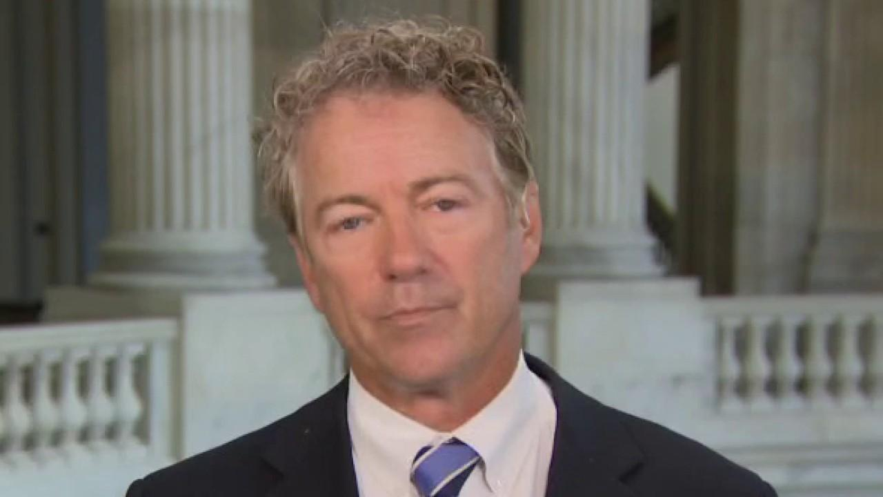 Sen. Rand Paul, R-Ky., argues Joe Biden is an unreformed part of the war caucus of the Democrat Party.