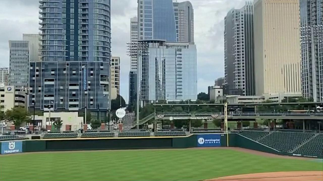 Charlotte Knights chief operating officer Dan Rajkowski says his stadium has found creative ways to generate revenue during coronavirus cancellations, such as private batting practices, movie showings and dance recitals.