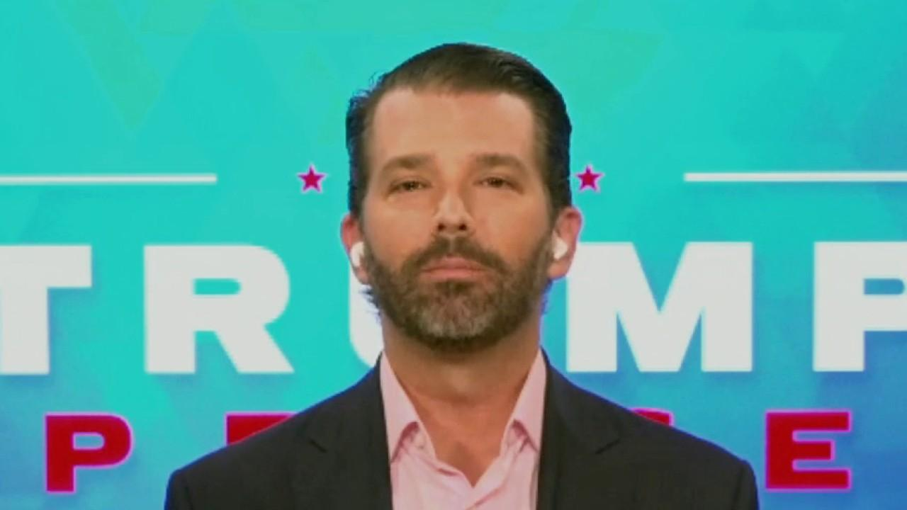 Trump Organization Executive Vice President Donald Trump Jr. on the Trump campaign suing New Jersey over mail-in voting and alleged Clinton-Epstein ties.