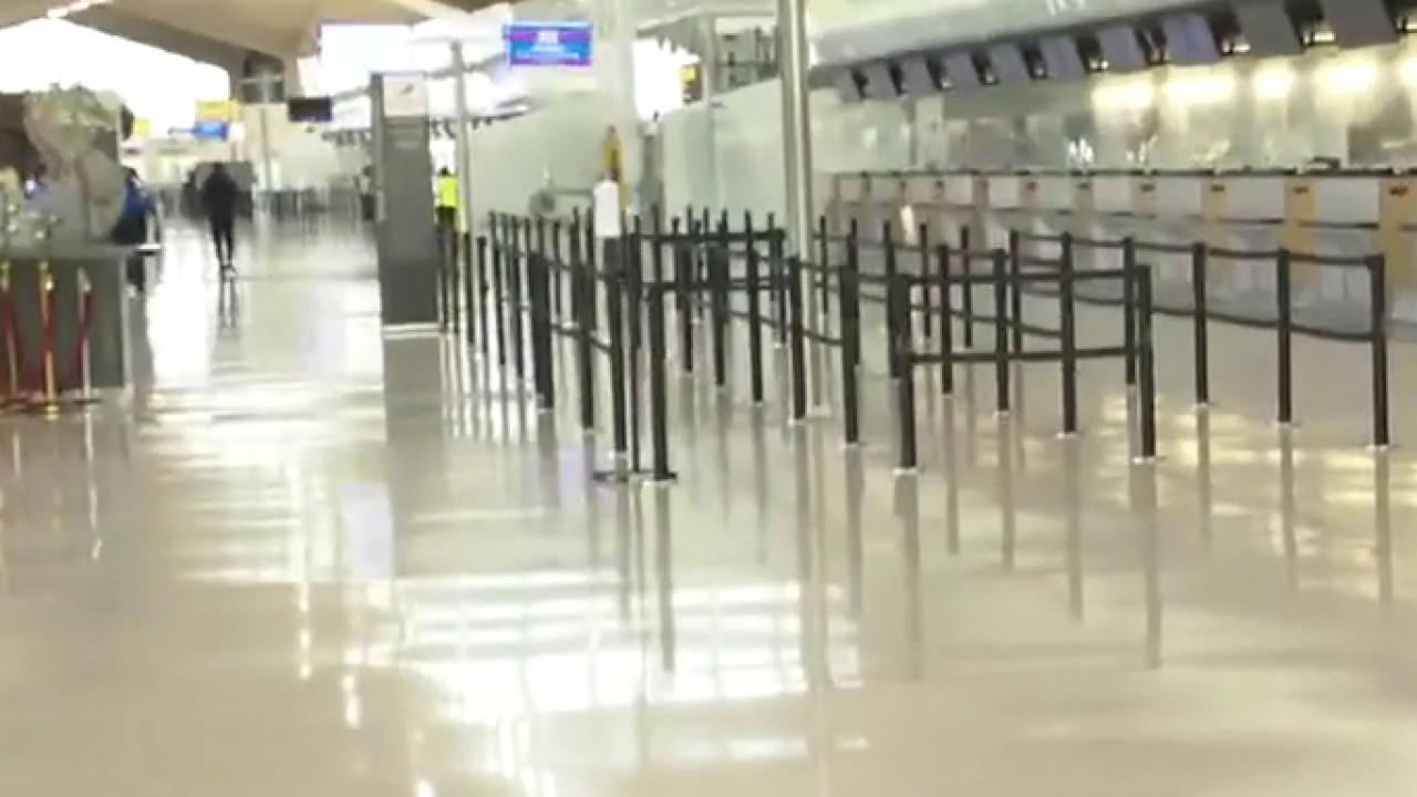 Kristina Partsinevelos reports from Newark International Airport on the race to make air travel safe.