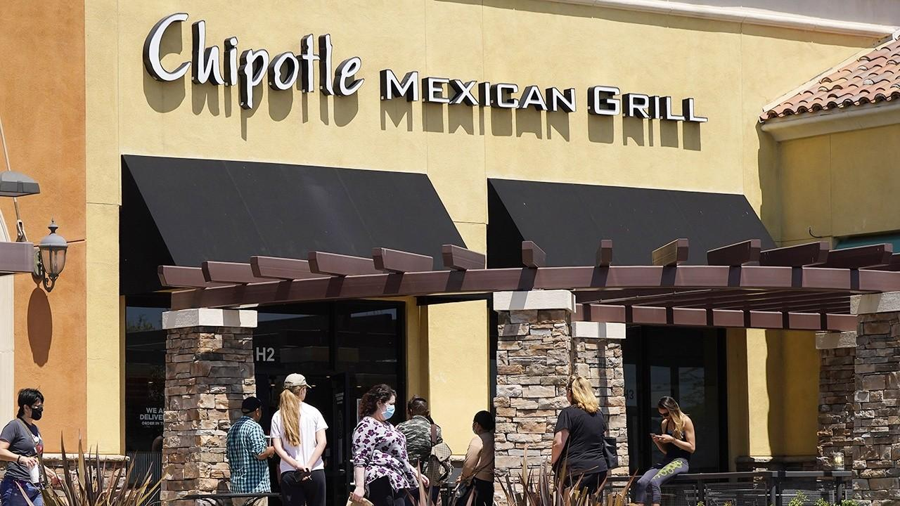 Chipotle Mexican Grill Chairman and CEO Brian Niccol on increasing drive-thru locations and digital infrastructure to meet increasing demand during the coronavirus pandemic.