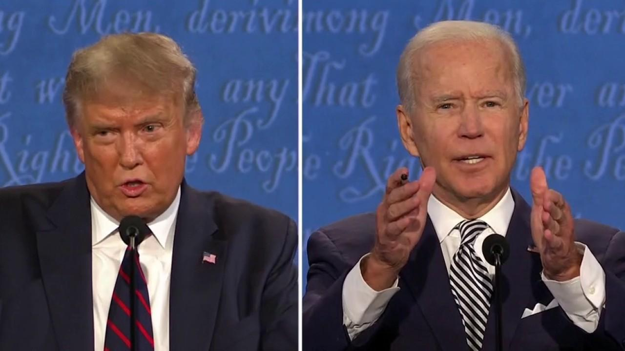 President Trump and Joe Biden discuss why Americans should vote for them during the first presidential debate.