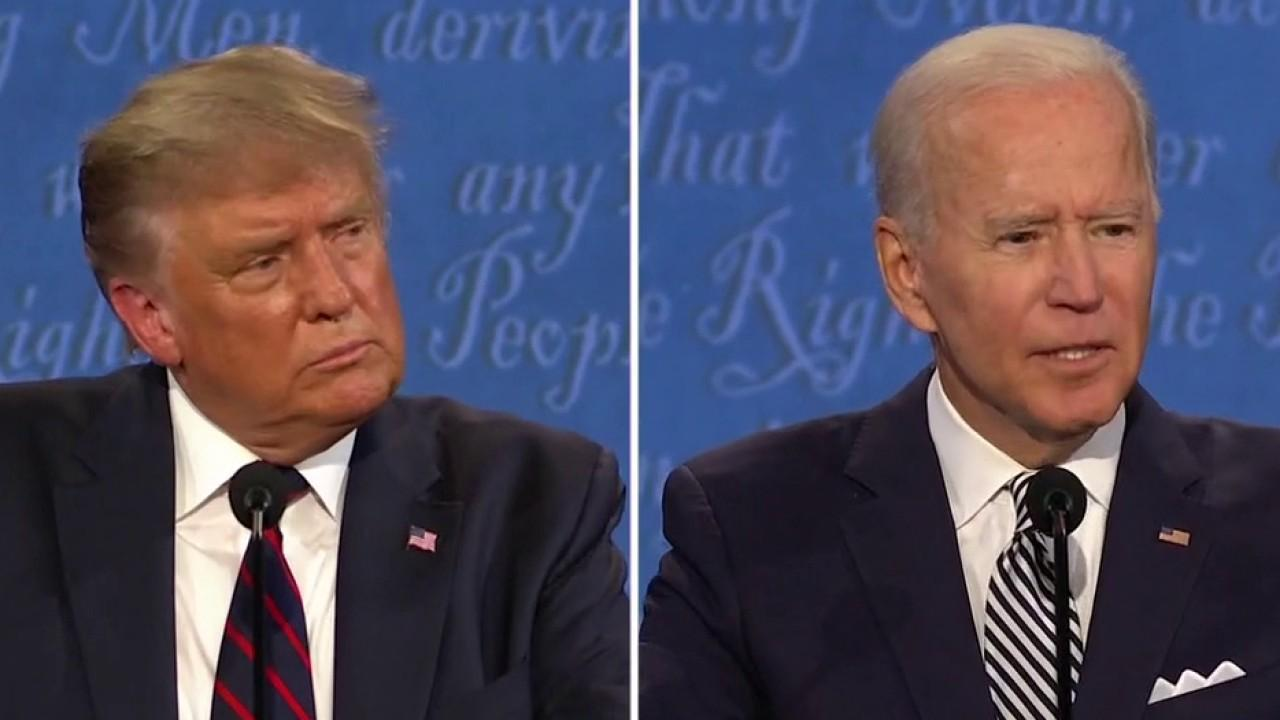 President Trump and presidential candidate Joe Biden discuss allegations over tax records and spar over economic plans.