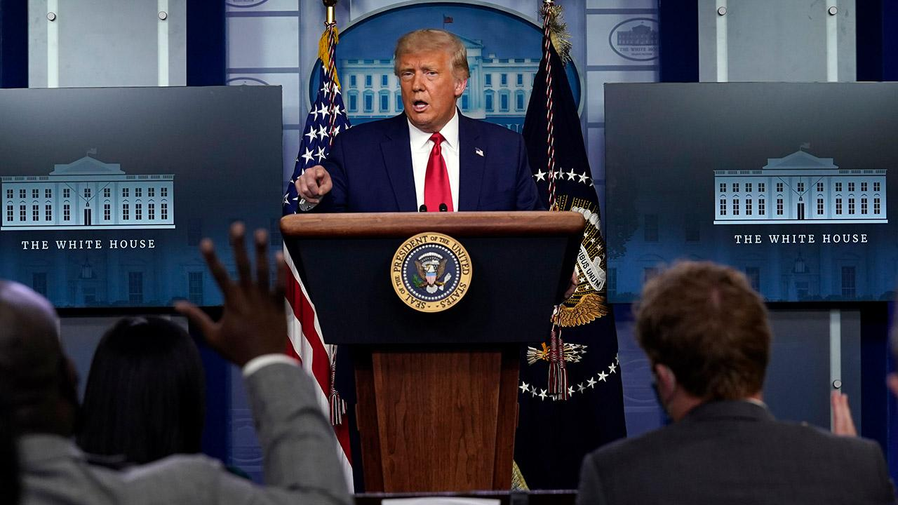 Westlake Legal Group 854081161001_6191499350001_6191506016001-vs Trump refutes CDC's Redfield vaccine timeline: 'I believe he was confused' Marisa Schultz fox-news/politics/executive/white-house fox-news/politics/2020-presidential-election fox-news/person/joe-biden fox-news/person/donald-trump fox-news/health/infectious-disease/coronavirus fox news fnc/politics fnc e3be2429-4c89-51ae-9e21-bd426513c79e article