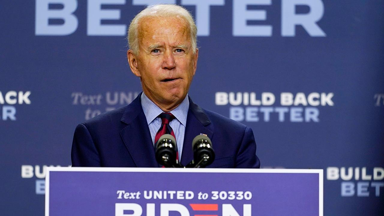 Presidential candidate Joe Biden shares his concerns about the pace of employment and economic growth in the U.S.