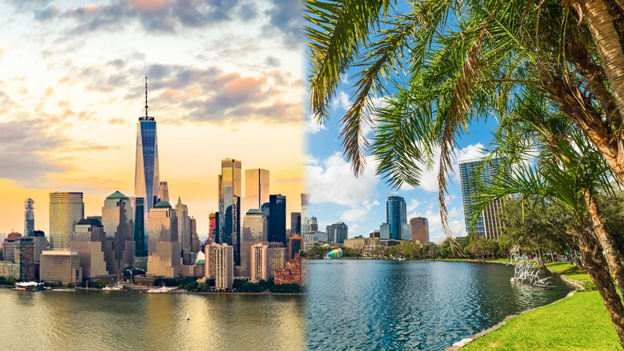 The King's College Business and Economic Professor Brian Brenberg discusses Americans from large liberal cities moving to states like Florida and Texas.