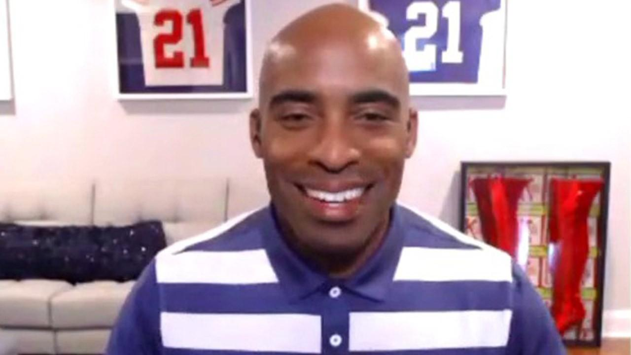 Former New York Giants running back Tiki Barber shares his thoughts on NFL TV ratings, politics in sports, the Super Bowl and the NFL competing with other sports like soccer and tennis.