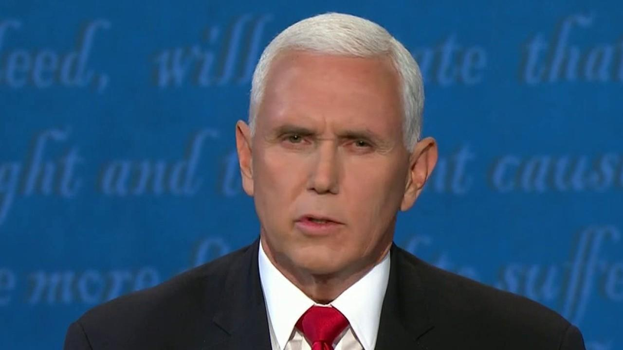 Vice President Mike Pence discusses the coronavirus pandemic's impact on the American people during the vice presidential debate.