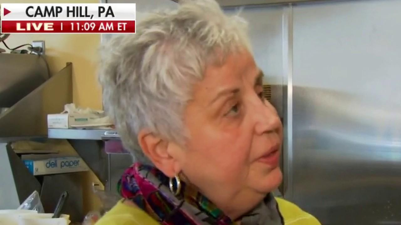 Marie's Cafe owner Maria Foutres in Camp Hill, Pennsylvania discuss how the 2020 presidential election and the coronavirus pandemic will impact business owners.