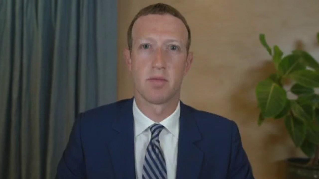 Senator Amy Klobuchar, D-Minn., and Facebook CEO Mark Zuckerberg clash over political advertisements during the Big Tech hearings.
