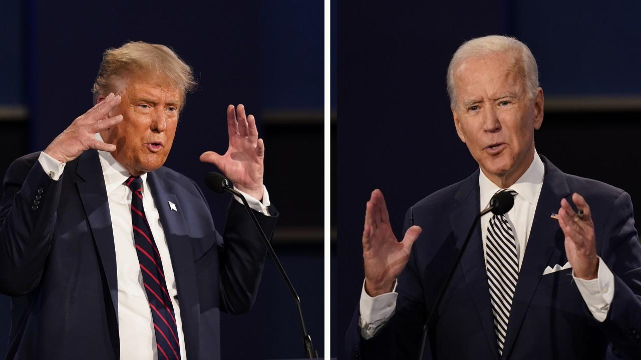 President Trump calls out Joe Biden for saying 'no fracking for months during the Democrat debates' then changing his tune.