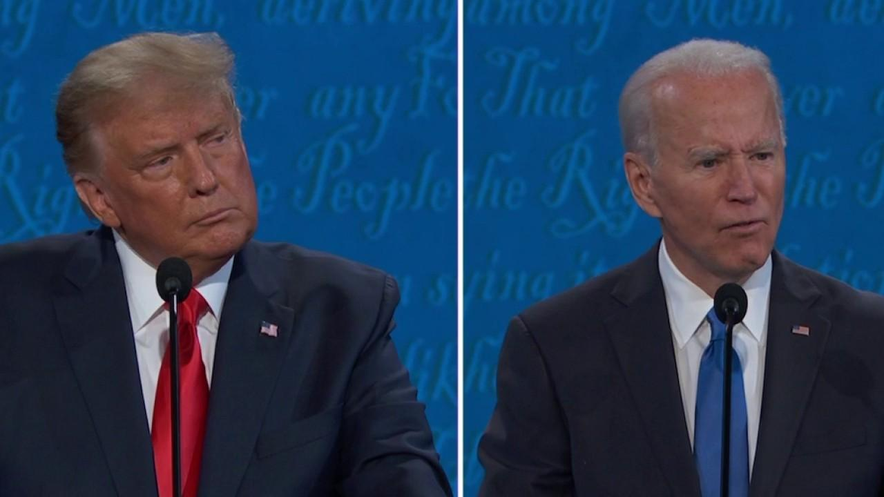 Trump and Biden spar over raising the federal minimum wage and struggling small businesses amid the coronavirus pandemic.