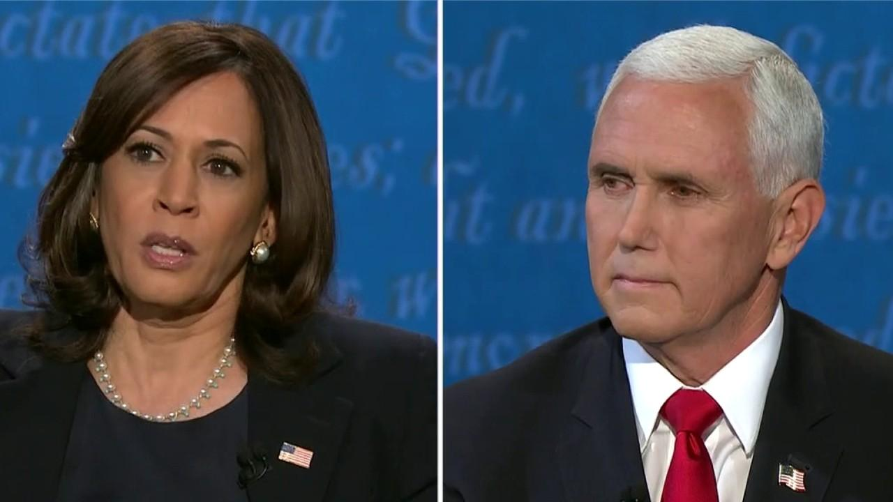 Kamala Harris and Mike Pence on environmental plans during the vice presidential debate.