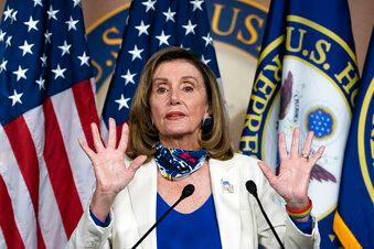 President Trump says he won't accept House Speaker Nancy Pelosi's $2.2 trillion coronavirus stimulus offer because she wants to 'bail out badly run Democrat states and cities.'