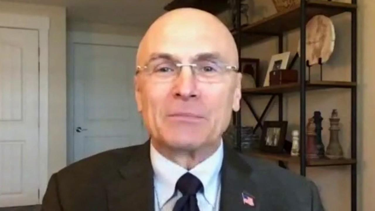 Former CKE Restaurants CEO Andy Puzder weighs in on GDP growth, the economy, and Biden's minimum wage push.