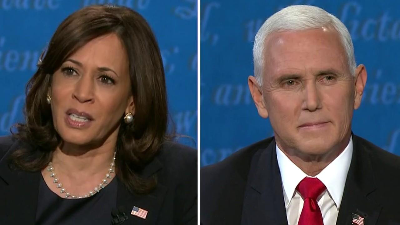 Vice President Mike Pence and Sen. Kamala Harris spar over China trade.