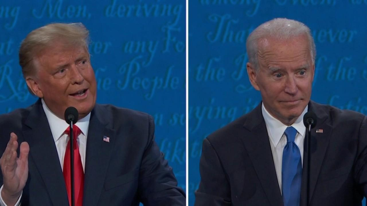 Trump and Biden spar over relations with China during the presidential debate.